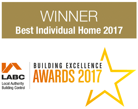 Winner Best Individual Home 2017 - Building Excellence Awards